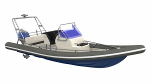 Arctic Blue 23 outboard